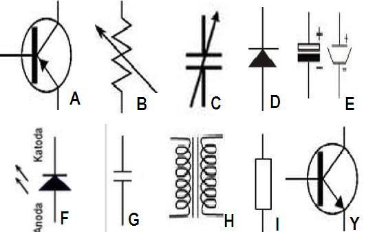 Simbol Listrik dan Simbol Komponen Elektronika